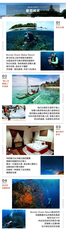 婆罗洲潜水马布度假村 Borneo Divers 仙本那马步岛预定 诗巴丹 潜客