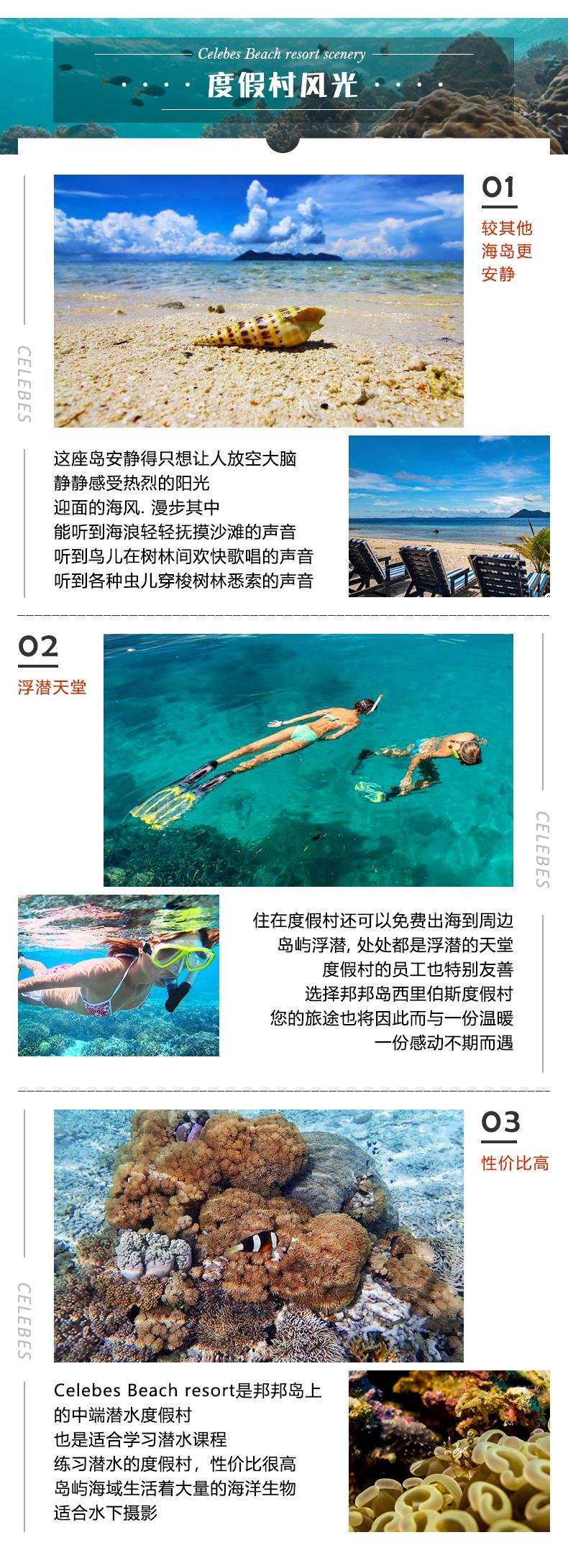 邦邦岛西里伯斯度假村 Celebes Beach resort 仙本那沙滩屋 潜客